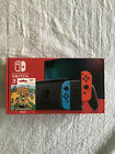 NEW Nintendo Switch Console V2 32gb Neon Joy Con w Animal Crossing Game Bundle