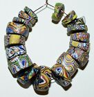 Antique Venetian Assorted Millefiori Italian Glass Beads Collected African Trade