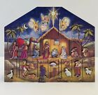 Wood Nativity Advent Calendar AC05