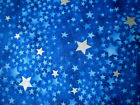 SILVER STARS ON NAVY BLUE ON BLUE COTTON FABRIC TRADITIONS