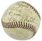 Yankees Babe Ruth Signed Official American Association Baseball PSA DNA #Y01913