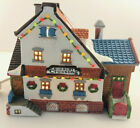 Vtg '94 LEMAX Dickensvale Porcelain Lighted House SUDBURY CROSSING Snow Village