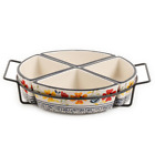 Luxembourg 5 Piece Divided Serving Dish Set With Metal Rack