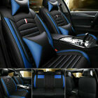 100 Pu Leather Car Seat Covers Front Rear Full Set For 5-seats Car Suv Truck