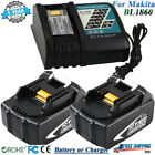 Charger or Battery For Makita 18V 60Ah LXT Lithium ion BL1860 BL1830 BL1850 US