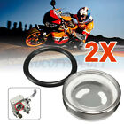 2 Pack 18mm Motorcycle Bike Brake Master Cylinder Reservoir Sight Glass Len