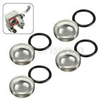 4pcs 18mm Motorcycle Bike Brake Master Cylinder Reservoir Sight Glass Len US -/