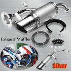 Short Performance Exhaust System Sliver For GY6 150cc Chinese Scooter