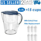 Waters 15 Cup Drinking Water Pitcher Filters with 1 Filter BPA Free Purifier