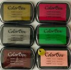 COLOR BOX PIGMENT ARCHIVAL INK PADS SET OF 6 COLORS PACK3