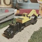 N Scale Semi Truck Trailer and Excavator
