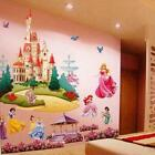 3D Cartoon Removable Diy Seven Princess Flower Castle Wall Stickers Home Decor F