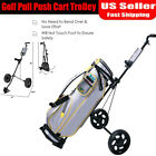 Folding Pull Push Golf Cart 2 Wheel Trolley Swivel with Score Board