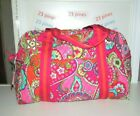 VERA BRADLEY SOLD OUT MEDIUM SIZE PINK SWIRLS PATTERN SPORT DUFFEL BAG NWT
