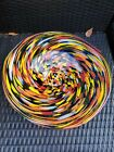 Vintage Art Glass Colorful Center Piece Large Bowl 16 W 375 T