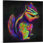 ARTCANVAS Chipmunk Striped Rodent Canvas Art Print