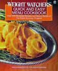 1989 Weight Watchers Quick and Easy Menu Cookbook Paperback
