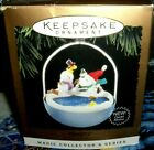 Peanuts`1995`Snoopy And Snowman With Woodstock,Light & Motion`Hallmark Ornament
