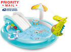 Intex Gator Inflatable Kiddie Pool Kids Play Center Swimming Slide Fast Shipping