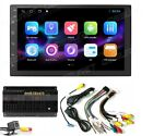 7Backup Camera+GPS Double Din Car Stereo Radio No DVD Player Bluetooth with Map