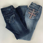 Lot of 2 Pairs of Womens Jeans Hydraulic Nikki and Indigo United Skinny Size 3 4