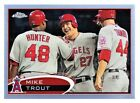 MIKE TROUT - 2012 TOPPS CHROME REFRACTOR #144 - ANGELS - ROOKIE CARD
