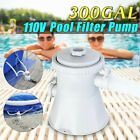 110V 330GPH Electric Swimming Pool Filter Pump Water Cleaning System
