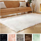 Faux Fur Fluffy Shag Rug Long Pile Non Skid Furry Carpet in Many Colors + Sizes