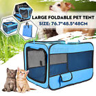 US Pet Dog Cat Tent Portable Cage Folding Kennel Puppy Playpen House Fence Bed