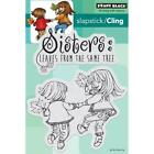 New Penny Black RUBBER STAMP leaves from the SAME TREE SET SISTERS cling