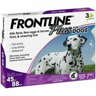 Frontline Plus for Large Dogs 45 88lbs Flea Tick Treatment Control 3 Doses