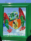 Frog Stained Glass Mosaic suncatcher Dragonfly