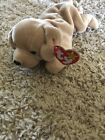 Fetch Ty Beanie Baby golden retriever 1997 P.E. pellets with tag errors