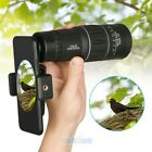 16x52 Zoom Optical HD Lens Monocular Telescope Outdoor Hiking For Smart Phone US