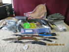 Large Junk Drawer Lot A Military Stuff Keychains Knife Knives