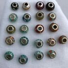 Sterling Vintage Glass 21 Beads Crafts Charms Jewelry Making Pendants 925 Murano