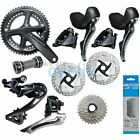 New Shimano Ultegra R8000 R8020 Hydraulic Disc Brake Groupset with Rotors