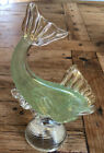 Vintage Murano Fish with Label Venetian Art Glass Italy Paperweight