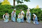 Nativity Set 5pc Shades of Blue Smaller 15 inch Indoor Outdoor Garden Statues