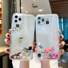 Liquid Glitter App Icons Bling Quicksand Case Cover For iPhone 11 X XR 8 7