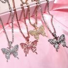 Hot Women Big Butterfly Necklace Pendant Clavicle Choker Crystal Chain Wholesale