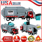Alloy Diecast Barreled Garbage Carrier Truck 124 Waste Material Transporter Toy