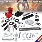 Red 80CC 2 Cycle Gas Motor Motorized Engine Bike Bicycle Moped Scooter Kit