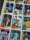 1984 TOPPS BASEBALL SET UNCUT SHEET COMPLETE SET 6 SHEETS OF 132 CARDS 792 CARDS