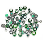 10pcs Mixed Green Crystal Glass Beads Crystal BEADS Fit Charm Bracelet