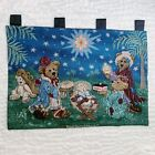 Boyds Bears Christmas Nativity Tapestry Wall Hanging 3 Wise Men Teddy Bears