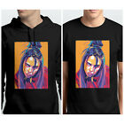 BILLI EILISH FACE PORTRAIT ORANGE BLACK ADULT KIDS T SHIRT  HOODIE