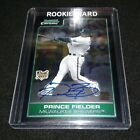 Prince Fielder Cards, Rookie Cards and Autographed Memorabilia Guide 43