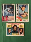 1984 Nestle George Brett 3 Card Lot All Star Leaders EX NM Curved