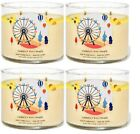 BATH  BODY WORKS SUMMER BOARDWALK 3 WICK SCENTED CANDLE LOT OF 4 PCS